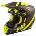 FLY Racing Шлем Карбоновый F2 Carbon Fastback Blk/Hi-Vis