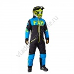 FXR Комбинезон легкий Helium Trilaminate Black/Blue/Hi-Vis