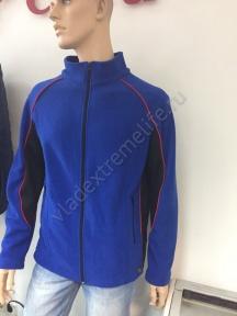 VEL Флисовая кофта мужская (Мужской, XL, Сине-черный)
