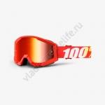 Очки для мотокросса 100% Strata Furnace с линзой Mirror Red