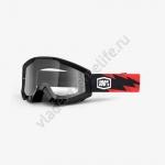 Очки для мотокросса 100% Strata Slash с прозрачной линзой