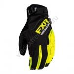 Перчатки FXR Attack легкие Black/Hi Vis