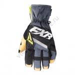 Перчатки FXR CX Short Cuff с утеплителем Blk/Char/Hi-Vis 180804-1008