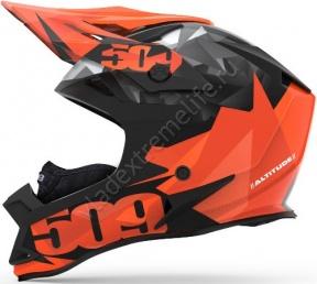 Шлем 509 Altitude Orange Triangles С Застежкой Fidlock