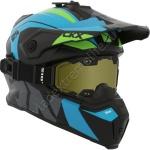 Шлем снегоходный CKX TITAN ALTITUDE, Зелено-Голубой