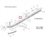 1543258-309 Полоз Гусеницы 163 Серебристый Правый Для Polaris