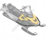 860200561 Передний Усиленный Бампер Для Ski Doo REV-XU WT, SWT