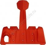860201032 Защита Днища Extreme Ярко Красная Для Ski Doo REV-XM