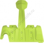 860201145 Защита Днища Extreme Зеленая Для Ski Doo REV-XM
